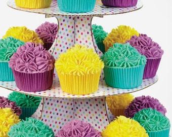 Cupcake Stand Polka Dot Cupcake Stand Polka Dotted Stand Cupcakes Display Rack Bakery Display Cupcake Stand Bakery Cupcake Display Stand