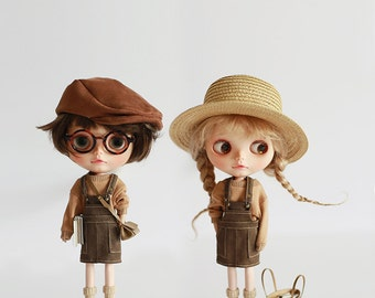 Missyo 2017 Winter & Spring - Bib Skirt for Blythe doll - Brown