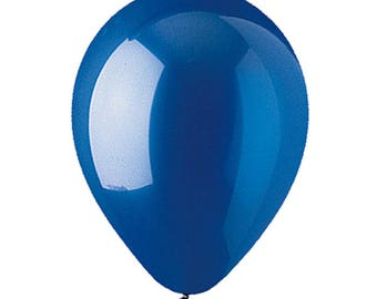 """CRYSTAL SAPPHIRE BLUE PartyLoons 12"""" Latex Helium Balloons. Your Choice of Quantity with Free Shipping!"""