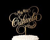 Wedding Cake Topper with your Custom Phrase - Ballroom Collection