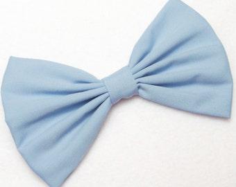 Blue Hair Bow for girls hairbows bows for hair accessories handmade Bow blue Hair Clips light blue hair bow for woman accessories fashion