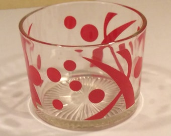 Retro Glass red Polka Dots  Ice Bucket