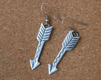 Arrowhead EARRINGs / Fred Harvey Era Style Jewelry / Vintage Sterling Southwest Dangling Earrings