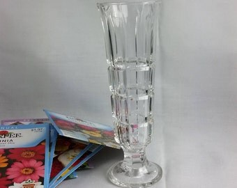 Clear Glass Bud Vase, Posy Vase, Made in Italy
