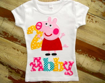 Peppa Pig Shirt, Short or Long Sleeved, 6-12m to 8 years