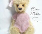 Vintage Dress Crochet PATTERN, doll dress, dress patterm, crochet pattern,summer dress, crochet doll dress, PDF knitting pattern