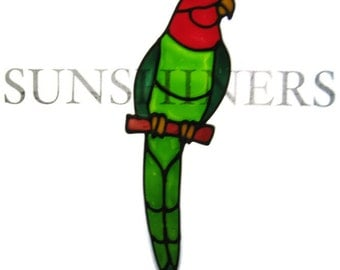 King Parrot rosella lorikeet parrot bird Suncatcher window sticker/decal stained glass style Sunshiner