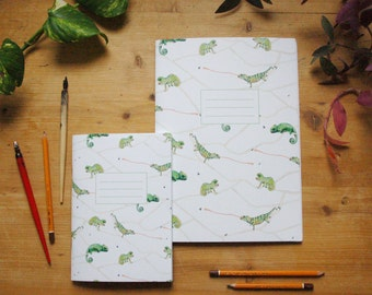 Chameleon notebook, chameleon journal, animal notebook