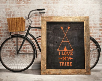 Tribal Wall Decals - I Love My Tribe  Wall Sticker