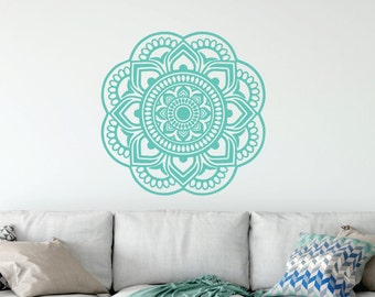 Mandala Decal -   Mandala Sticker - Boho Wall Art - Dorm Room Decor - Bedroom Decor - Made in the USA