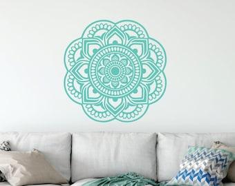 Mandala Wall Decal // Family Wall Decal // Mandala Wall Art // Mandala Wall Decor // Mandala Sticker // Yoga Wall Decal // Bohemian Art