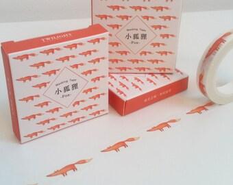 Cute Fox Skinny Washi Tape