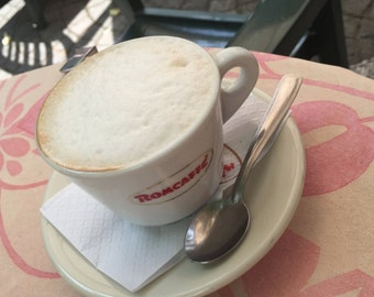 Florence Photograph, Coffeeshop Art, Travel Photography, Coffee Cup, Espresso, Italian Coffee,  Kitchen Decor, Cafe Decor, Break Room Art