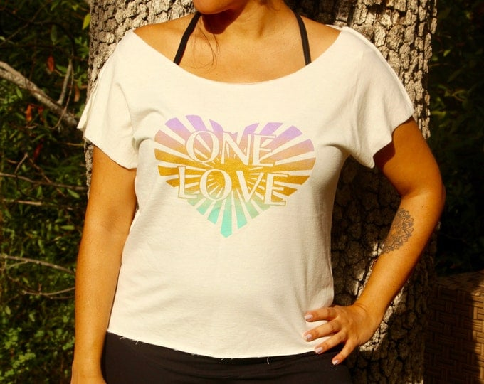 ONE LOVE Off Shoulder Dolman