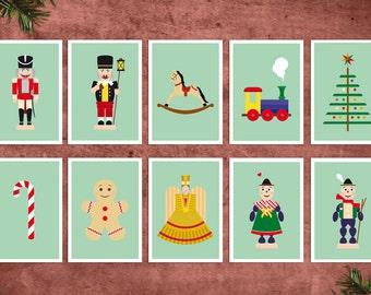 Postkarte Weihnachen, Postkarte Nussknacker, Postkarte Christkind