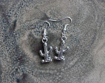 SALE - Little Cactus Earrings - Plant Earrings - Cactus