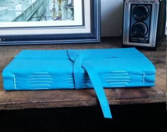 Large Leather Journal, Turquoise Hand-Bound 6 x 9 Journal by The Orange Windmill on Etsy 1778
