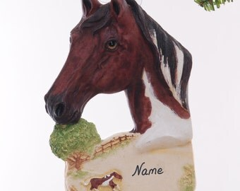 Horse Ornament personalized Christmas ornament for the horse lover in your life - made in the USA from resin - Personalized Ornament  (340)