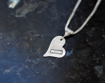 Healing Heart Necklace , Bandaged Heart Necklace ,  Sterling Silver Heart Memorial Jewelry , Heartbreak Necklace , Band Aid Healing Heart