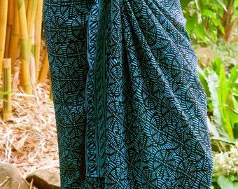Blue Male/ Female Sarong, Wrap, Pareo