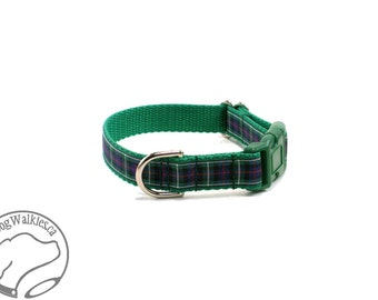 "MacKenzie Tartan Dog Collar / Plaid Dog Collar / 3/4"" (19mm) Wide / Quick Release or Martingale Dog Collars /Choice of collar style and size"