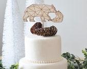 Bear cake topper, geometr...