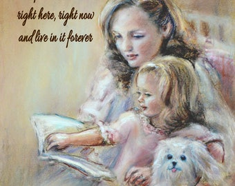 Personalized   print, 'Bedtime Story Laurie Shanholtzer, reading, unique gift, Verse and names added
