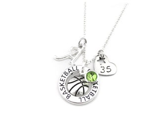 Basketball Necklace, Basketball Gifts, Basketball Jewelry, Basketball Player Gift, Basketball Team Gift, Girls Basketball Gift