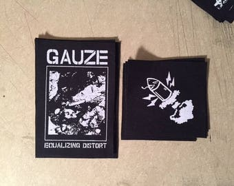 Guaze or Lip Cream Japanese hardcore punk canvas patches