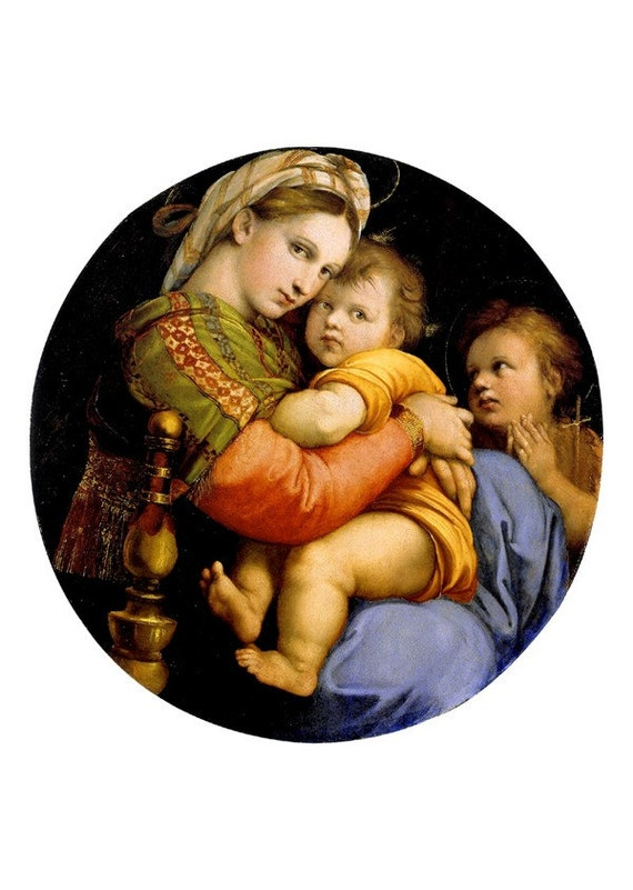 Virgin infants saviour by raphael