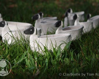 Ceramic Clay Sheep, rustic decor for home and gifts
