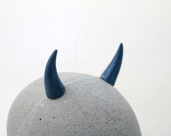 Navy Blue Devil Horns