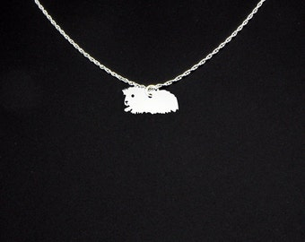 Long Haired Guinea Pig Necklace - Guinea Pig Jewelry - Guinea Pig Gift