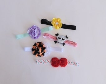 Grab Bag - 5 for 5 Dollars - Assorted Baby Girl Headbands - Baby Girls Hair Bow Accessories Newborn Baby Hairbows Ready To Ship Gift Set C1