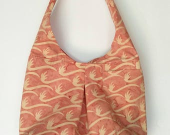Hobo Bag~ Batik Cotton Original Design Hobo Shoulder Bag or Crossbody Bag