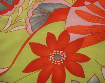 Boho Vintage Polyester Red Floral Mixed Print Fabric Material