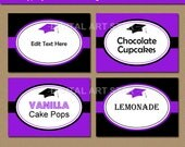 Graduation Template, Graduation Party Decorations 2018 Graduation Ideas, High School Graduation Buffet Cards, College Graduation Stickers G1