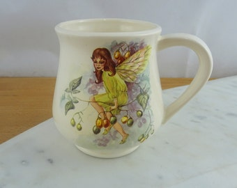 Vintage Fairy & Squirrel Mug  | Woodland Coffee Tea Cup | Vintage Handmade