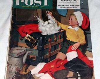 Dec 15, 1951, SATURDAY EVENING POST, Christmas ed, Era of Aircraft Vacation adv
