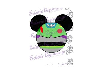 Disney Digital File, DIY Print Iron On-Disney Toy Story Buzz Lightyear Mickey Ears JPG File