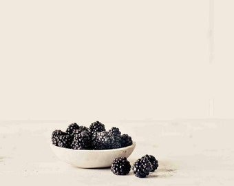 Food Photography, Blackberries Print, Still Life Art, Kitchen Wall Art, Fruit Photography, Sepia Photography, Fine Art Photography
