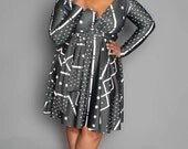 THE KENYA Convertible Dress in Black and Cream