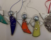 Angelsstained glass  hanging tree decorations.