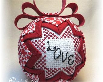 Valentine's Quilted Keepsake Ornament