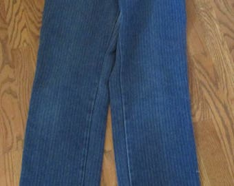 "1980's vintage Lee jeans with stripe high waisted 30"" waist"