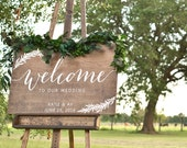 Welcome To Our Wedding Sign, Wood Wedding Welcome Sign, Wooden Welcome Sign, Wood Wedding Signs, Custom Wedding Signs, Painted Wedding Sign
