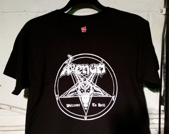 VENOM Welcome to Hell Black Metal Band T-SHIRT