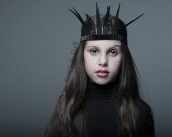 Maleficent Crown // Maleficent Headpiece // Maleficent Headband // Evil Queen headdress // by Born TuTu Rock