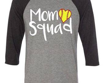 Mom Squad Softball Tee, softball shirt