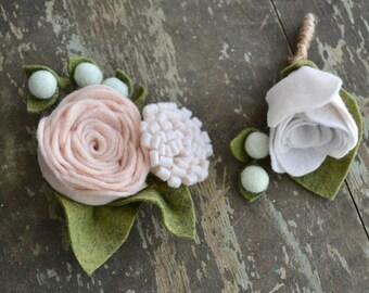 Felt Flower Corsage - Custom colors available